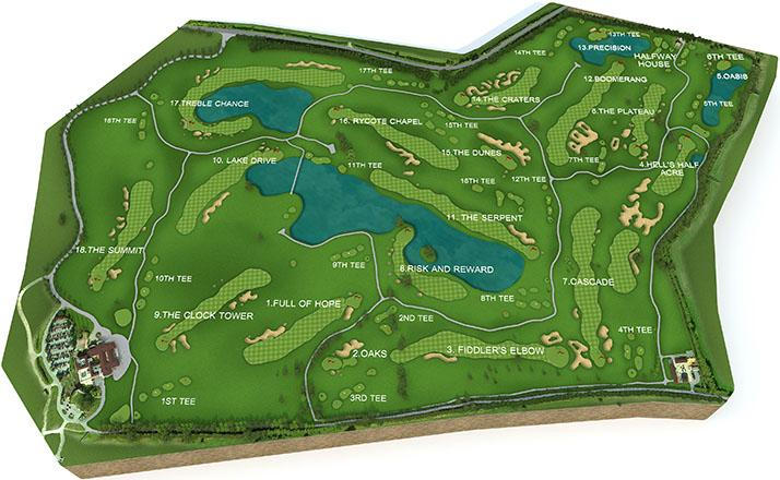 The Oxfordshire course map